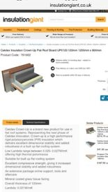 Celotex crown up 120mm flat roof insulation board