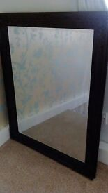Very Large Black Vintage Style Mirror