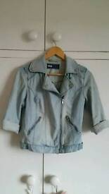 Denim biker jacket size 8