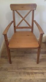 2 Ingolf chairs from Ikea