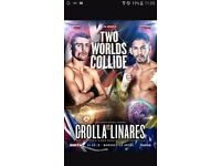 Ant crolla v linares floor block L row A very good seats. Mancheater arena this sat