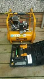 Bostitch compressor and nail gun
