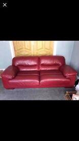 3 seater leather sofa x 1