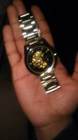 Mens Mabz Watch Gold Chrome