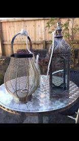 2 x Besitiful Morrocan style lanterns