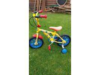 Boys Bob the builder Bike with stabilisers