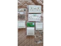 Schneider Simplicity Varilight Electrical White Socket Light Switches Bundle RRP £40