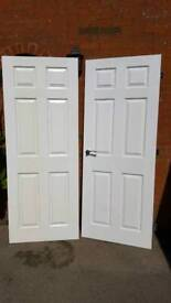 Two Moulded Interior Doors