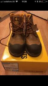 Buckler steel toe capped work boots,size 10