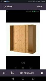 Brand New Ikea Wardrobe with Hurdal sliding doors (Oak effect)