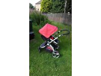 Little devils Black and Red Carrera Sport 3-in-1 Pushchair