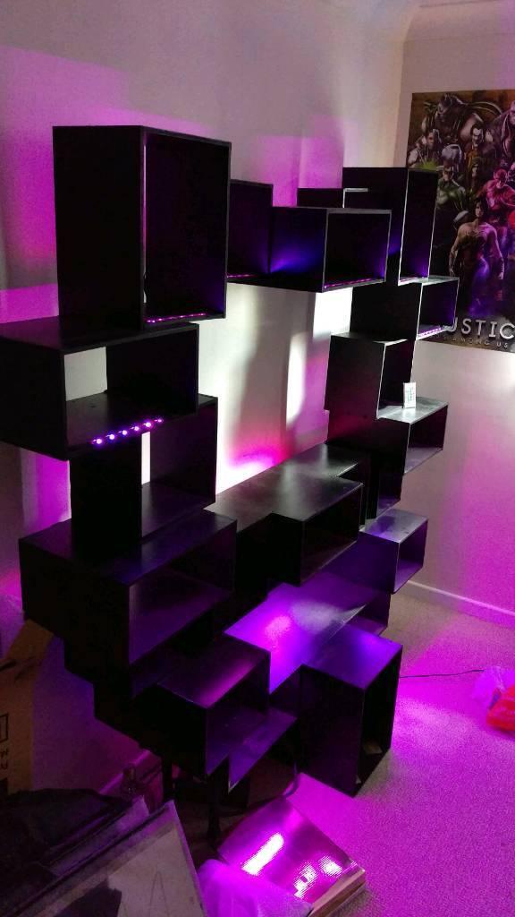 Custom shelving and TV stand
