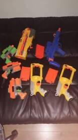 Multiple NERF Guns (No Bullets)