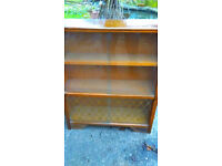 Small Neat Bookcase / Display Cabinet With Four Sliding Glass Doors Very Good Condition