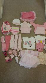 Girls Clothing Bundle Size 0-3 months