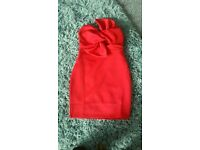 Missguided red bodycon S8 Xmas dress