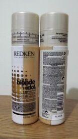 Redken Blonde Idol Custom-Tone Conditioner Gold for Warm Blondes 196ml x 2 Brand New