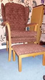 High backed chairs and 2 seater
