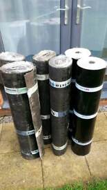 Roof felt set for garage or extension: 6 rolls in total of torch on felt. Best quality!!!