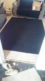Large black ikea rug
