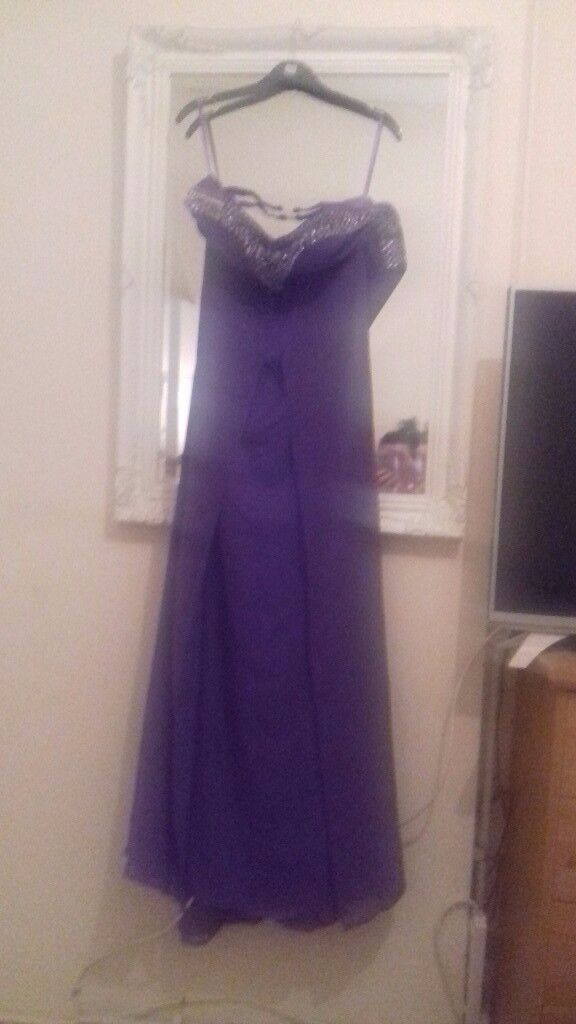 Cadburys purple size 8 dress prom