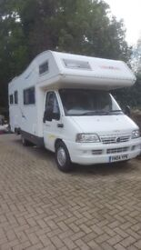 Excellent Motorhome hire. Collect from North Yorkshire. Bedding & european travel included. OFFER!