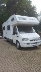 Excellent Motorhome hire. Collect from North Yorkshire. Bedding & Fully Comp Ins included. OFFER!