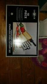 Brand new 10 piece stainless steel cutlery set