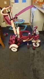 Girls pink tri-cycle