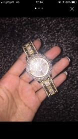 womens diamond gold watch
