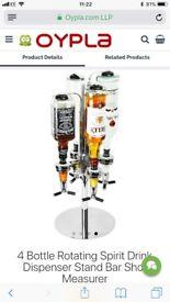 Four bottle home bar drinks dispenser