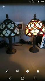 Pair Tiffany style table lamps
