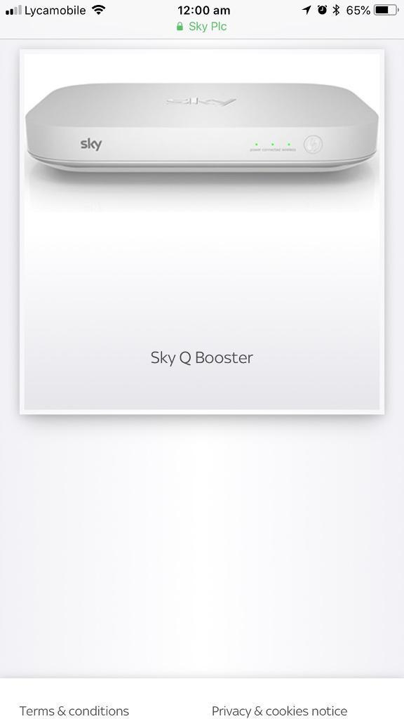 Sky Router and wi-fi Booster
