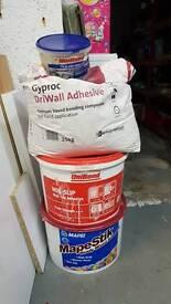 Tile adhesive and driwall adhesive