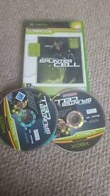 XBOX GAMES TOM CLANCY'S SPLINTER CELL COMPLETE CLASSIC WITH BONUS GAME