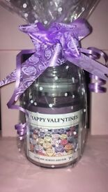 Valentines love hearts inspired candle perfect for valentines