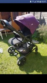 Joie Chrome Damson Purple Travel System *In Very Good Condition*