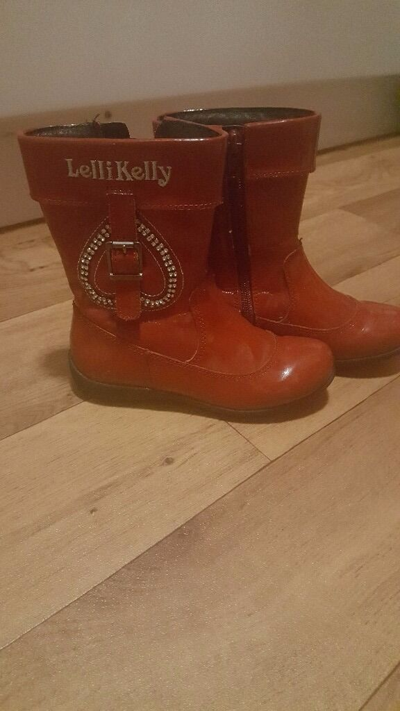 Girls (kids) red lellie kellie boots