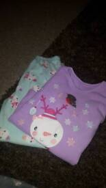 Girls Christmas pyjamas age 5-6