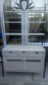 Solid wicker unit shabby chic