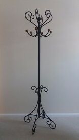 Heavy Wrought Iron Coat Stand