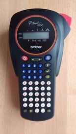 Brother P-Touch Hand Held Label Maker ( Model PT-1000) Labeling System - Blue