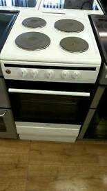 AMICA 50CM ELECTRIC COOKER IN WHITE