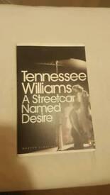 A Streetcar named desire Tenenesee Williams Book