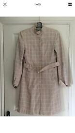 Warehouse ladies size 12 long belted coat for summer autumn cotton