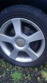 "16"" 5x112 alloys with tyres fit vw audi seat skoda"