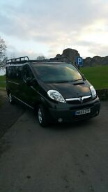 Vauxhall Vivaro Van excellent condition inside and out, racking in the back, Rhino roof rack