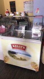 Ice cream freezer Kelly's of cornwall