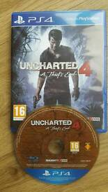 Uncharted 4: A Thief's End. PS4. Excellent condition.