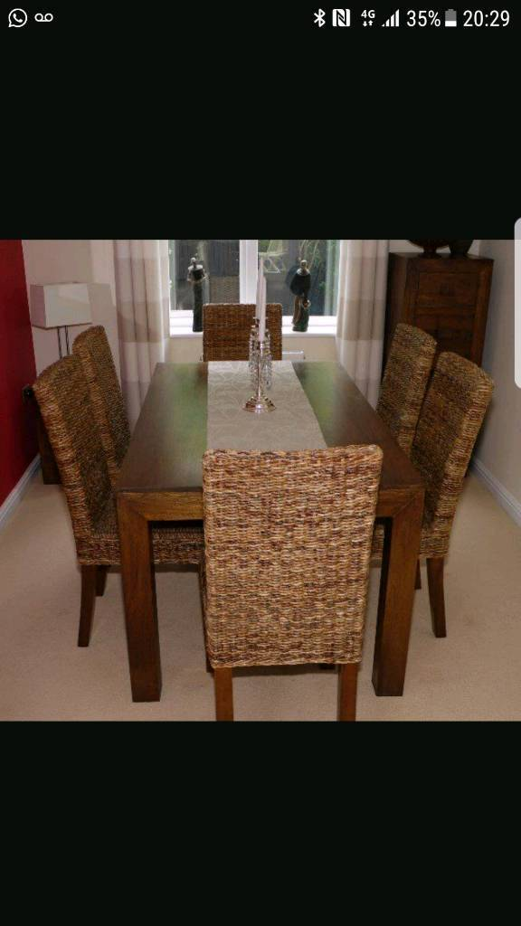Next Solid mango wood dining table